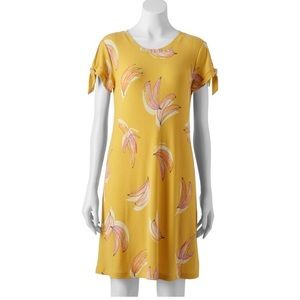 Lauren Conrad Banana Knot Sleeve Swing Dress M NWT